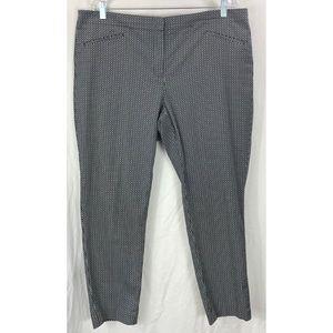 J Jill black white front pockets ankle pants 7059